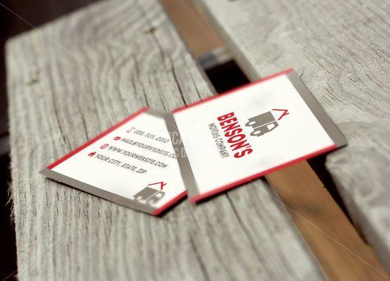 Custom Premade Moving Company Business Cards