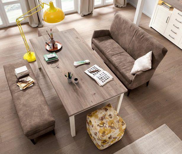 set one by musterring tischsofa »so 4650/york«, mit hochwertiger, Wohnzimmer