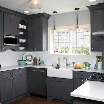 Dark Grey Kitchen Cabinets Google Search Dream House Pinterest