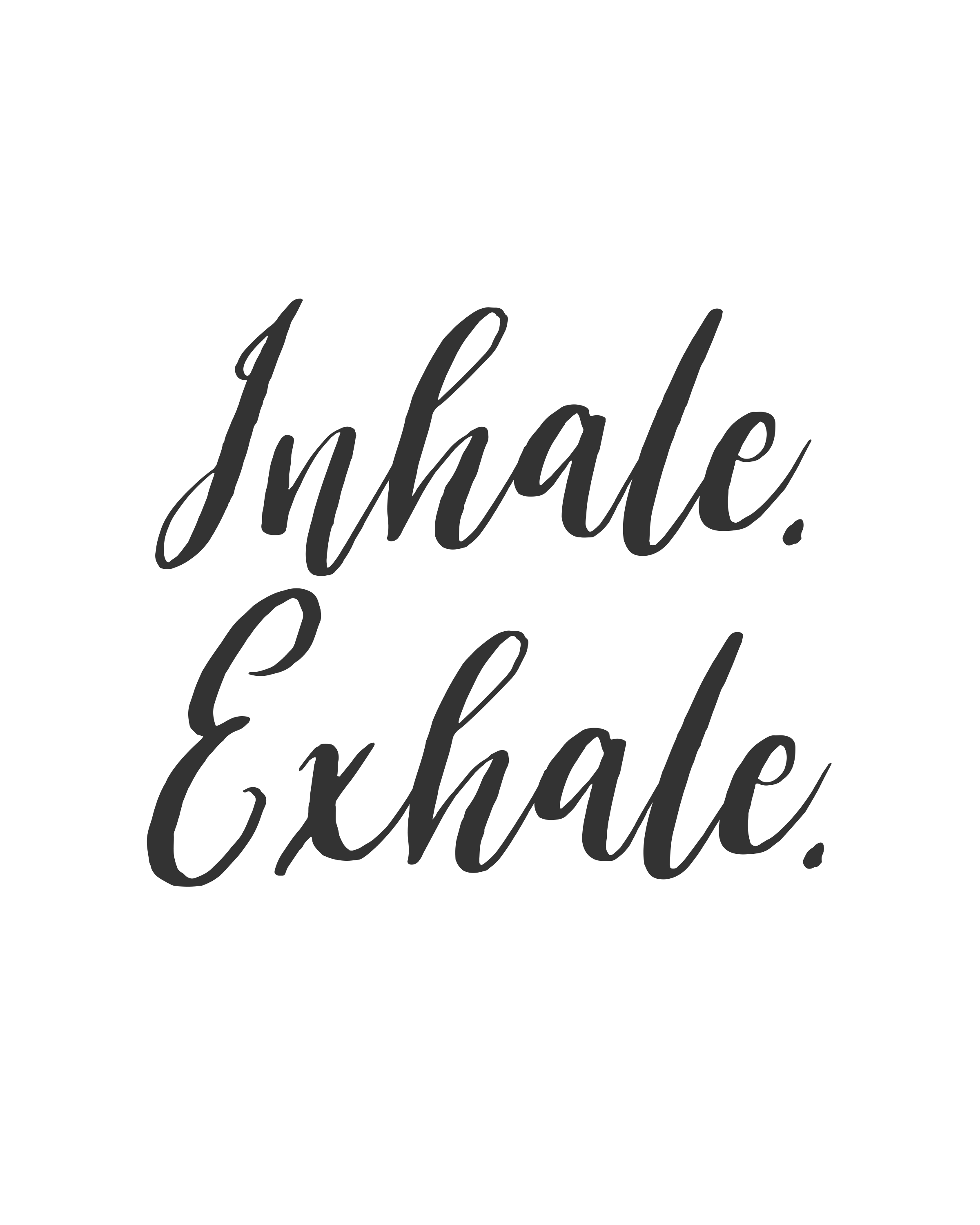 Motivational Inspirational Quotes: Inhale. Exhale. Poster