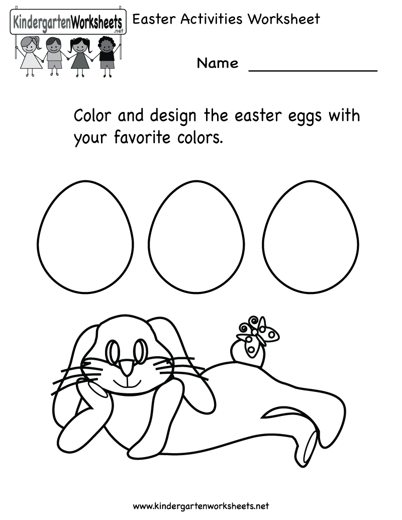 Kindergarten Easter Activities Worksheet Printable | Just Call Me Ms ...