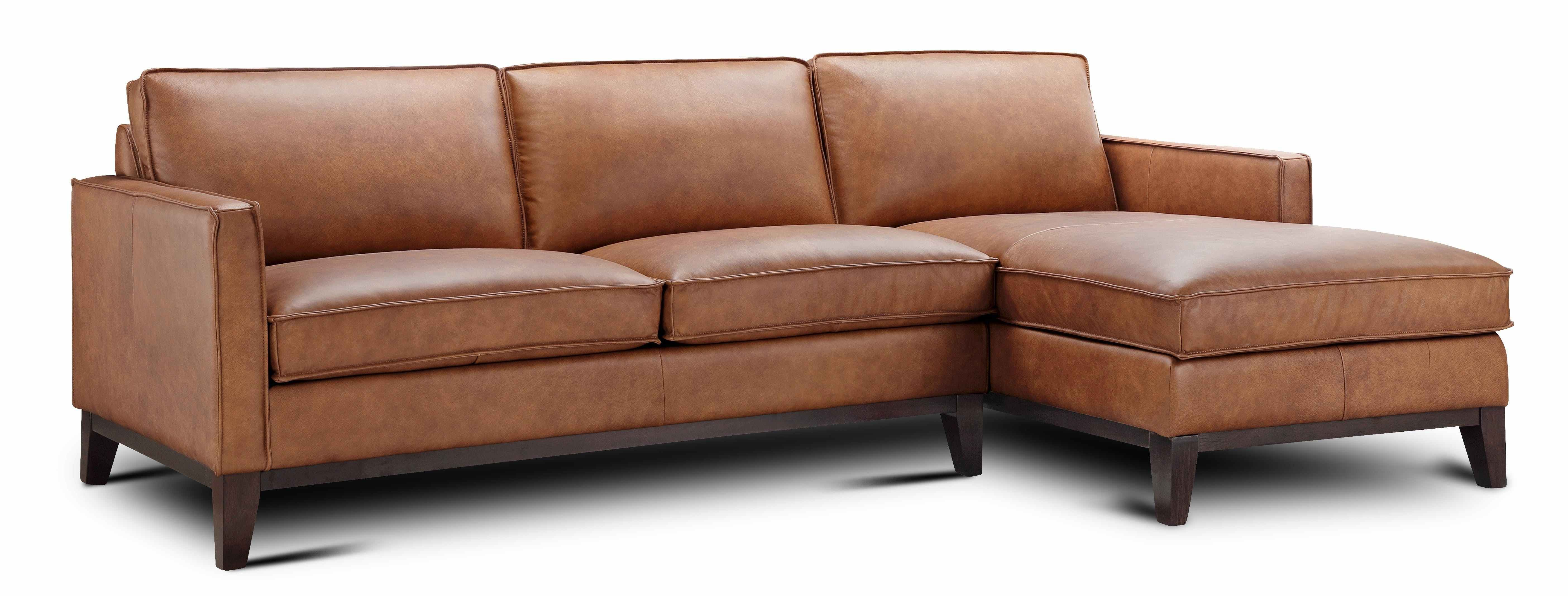 Allure Justin Leather Chaise Sectional