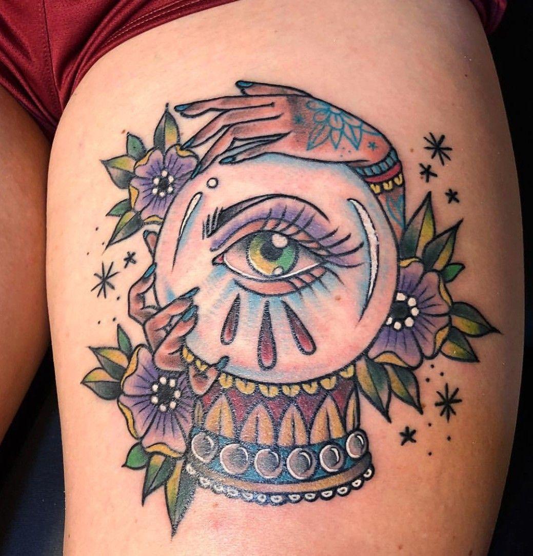 Crystal Ball Tattoo By Cassandra Knox