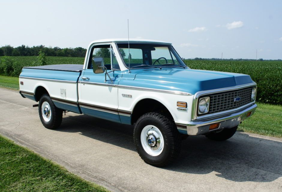 No Reserve 1972 Chevrolet K20 4x4 Pickup 72 Chevy Truck Chevy Trucks Chevrolet Trucks