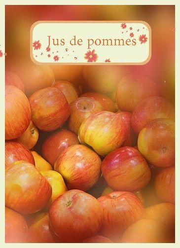 Etiquettes jus de pommes