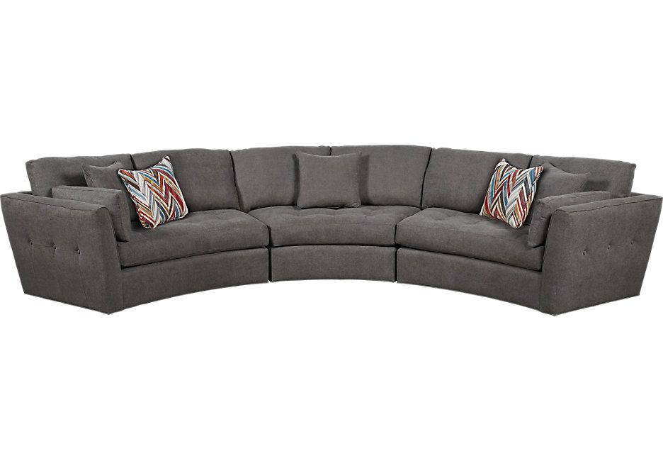 Cindy Crawford Home Arbor Park Granite 3 Pc Sectional | Living room ...
