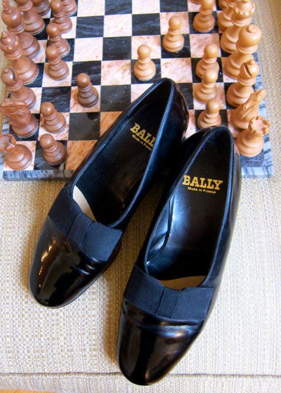 85bb76991c5 RESERVED for Alex BALLY Tuxedo Shoes France Black Leather Slip On ...