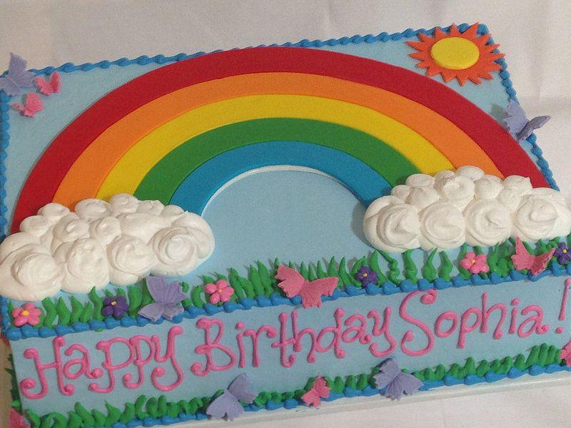 Rainbow Sheet Cake 3063 Rainbow Birthday Cake Birthday Sheet