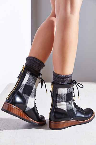 Matt Bernson Windsor Wool Plaid Hiker Boot - Urban Outfitters