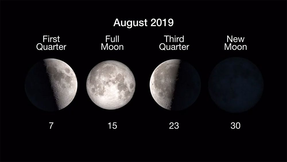 August 2019 Skywatching Sights Shooting Stars New Moon And