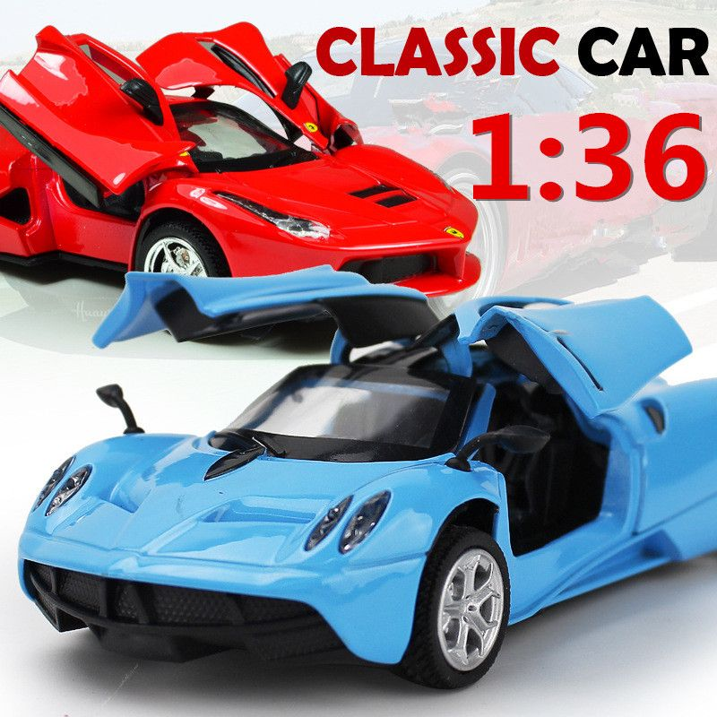 Click To Buy Hot 1 36 Scale Alloy Pull Back Cars High Simulation Car Model 2 Open Door Supercar Children S Toys Metal Gi Super Cars Classic Cars Toy Car