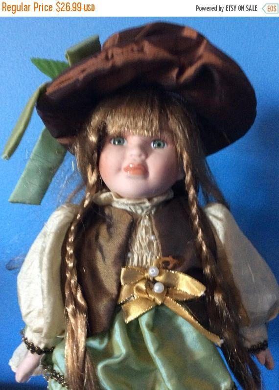 blackfridaysale vintage 14 inch porcelain doll with stand emtwtt
