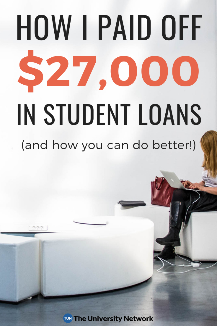 How I Paid Off 27 000 In Student Loans In 3 Years And How You Can Do Better The University Network Student Loans Paying Off Student Loans Student Loans Funny