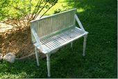 Photo of Repurposed Shutter garden bench shutter bench Dette bildet har 0 repins. …
