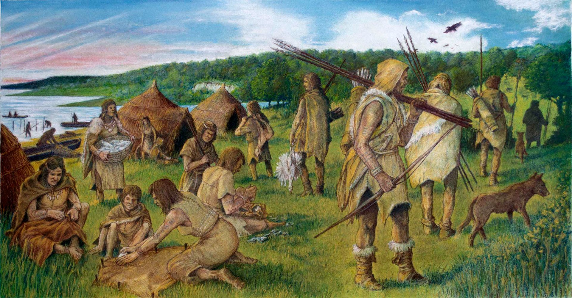 Mesolithic Hunter Gatherer Community Somewhere Along The South Coast Of Susaround 7 000 Bce