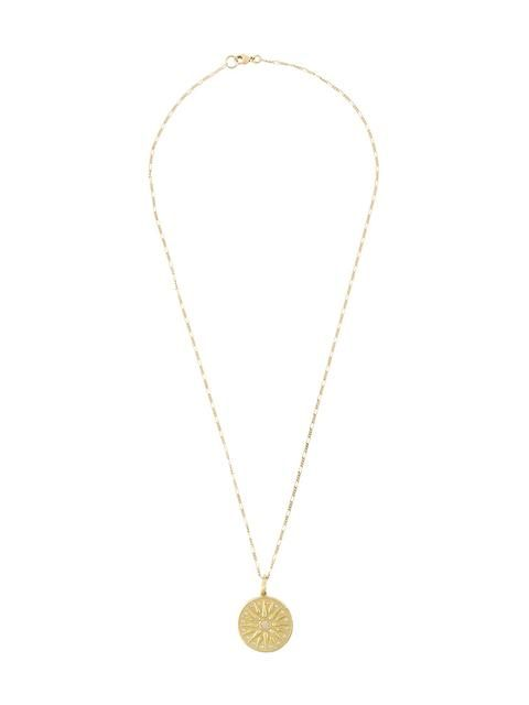 Orit Elhanati The Letter M diamond & yellow-gold necklace CZfUgkR