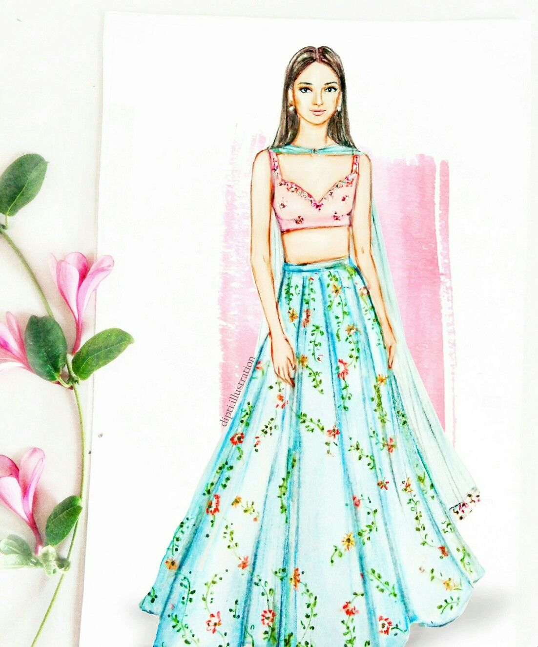 Kritikharbanda Bollywood Celebrity Weddingfashion Kalkixkritikharb Fashion Illustration Dresses Dress Design Drawing Fashion Illustration Sketches Dresses