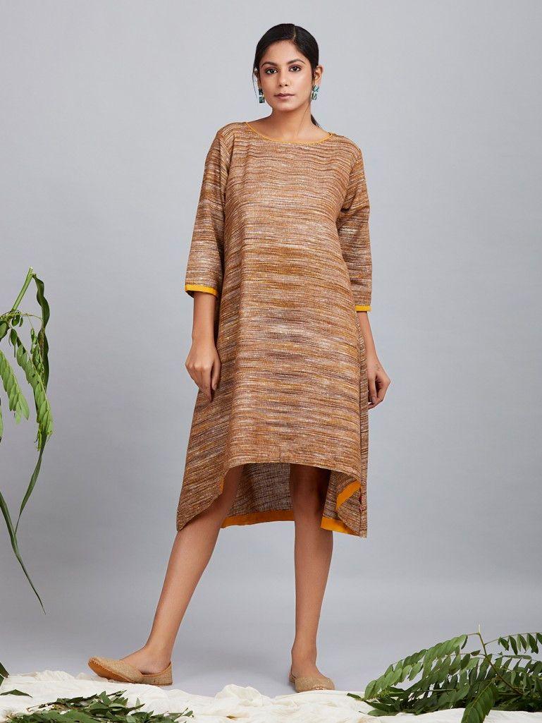 aba4f1b49946 Brown Cotton Dress Cotton Dresses Online