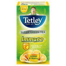 Tetley Immune Green Tea Lemon&Honey 20'S 40g