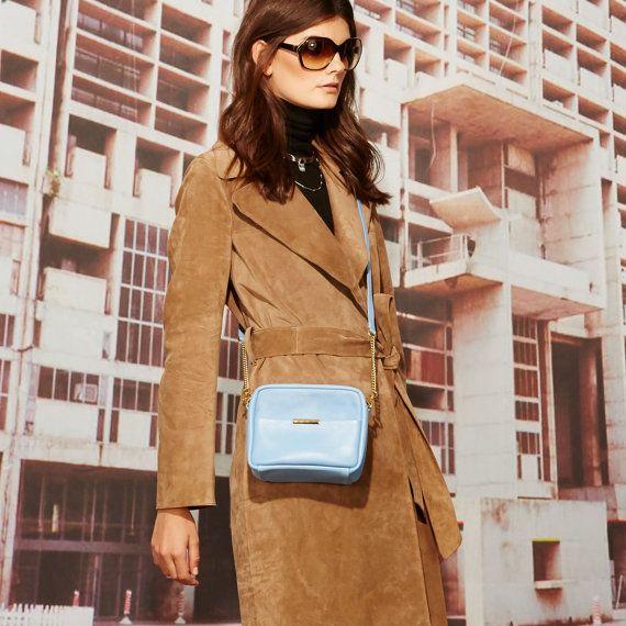 Mini Leather Cross Body Bag OPELLE Mini ISSA by opellecreative