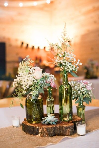 Rustic Wedding Centerpiece Idea