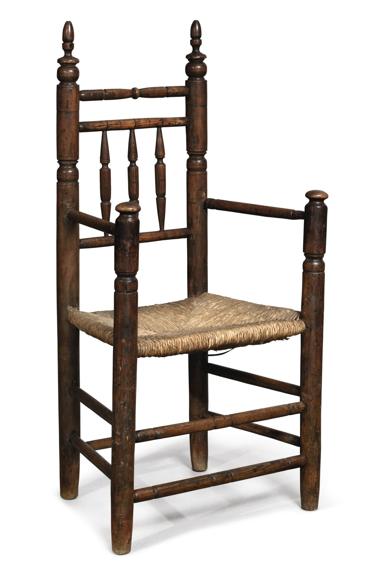 Pilgrim Century Turned Poplar Spindle Back Armchair Massachusetts Circa 1685 American Antiques Antique Chairs Antique Furniture