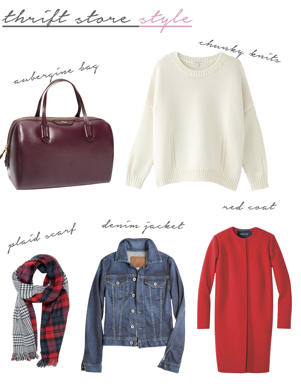 Thrift Store Fall Fashion. Shop second-hand for these fall must haves!