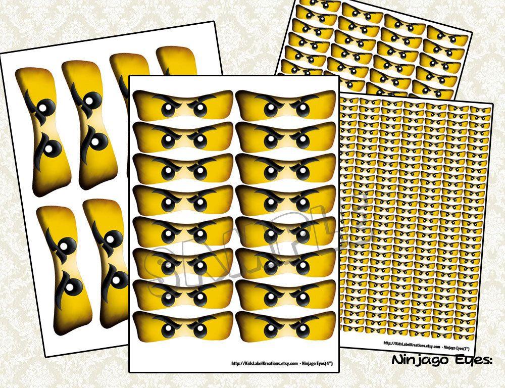 ninjago eyes  ninjago balloon stickers  ninjago lollipop