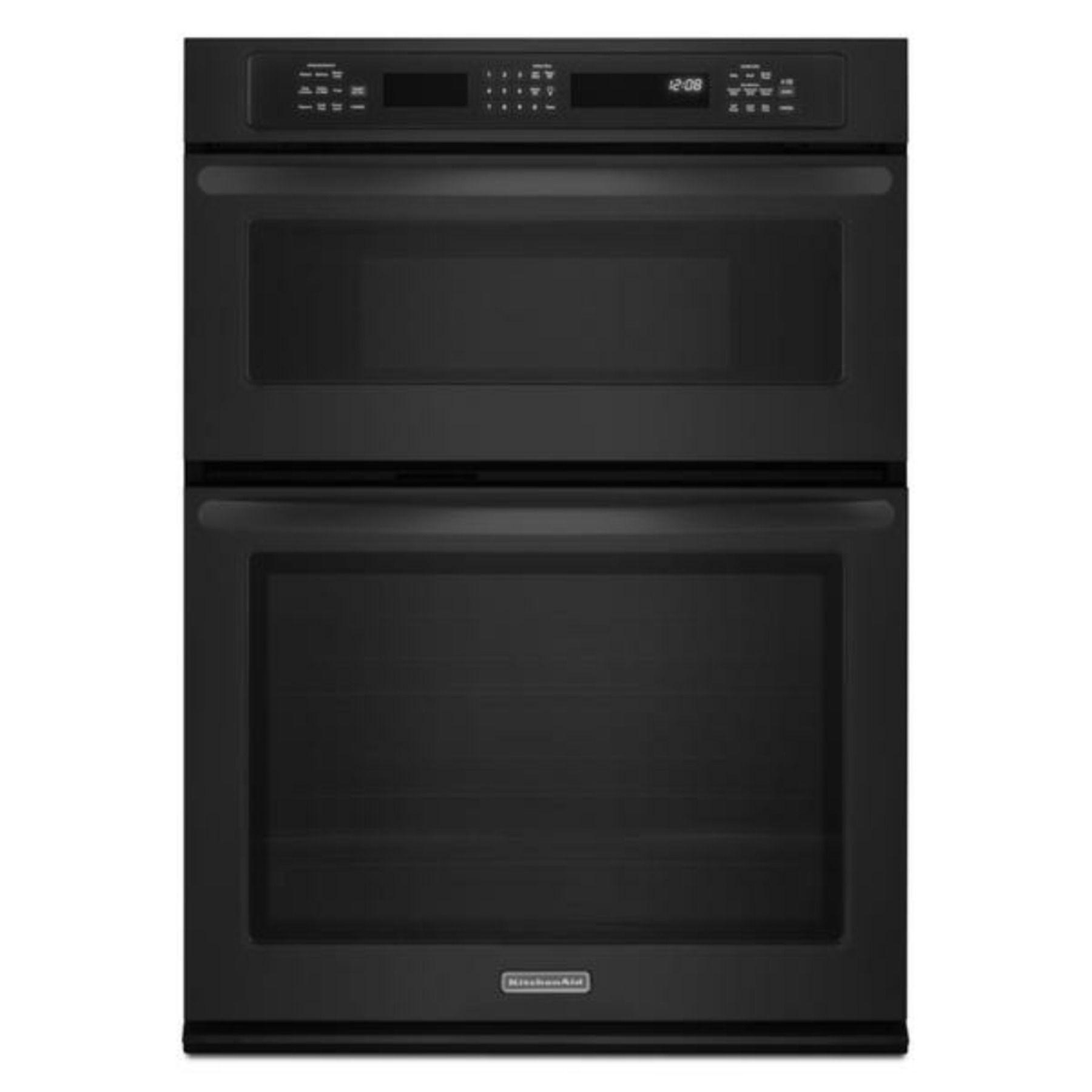 Kitchenaid architect series ii 30 black microwave wall