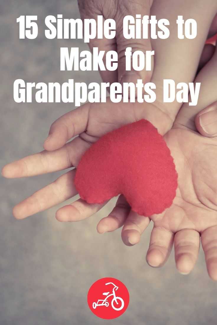 15 Simple Gifts to Make for Grandparents Day #grandparentsdaygifts