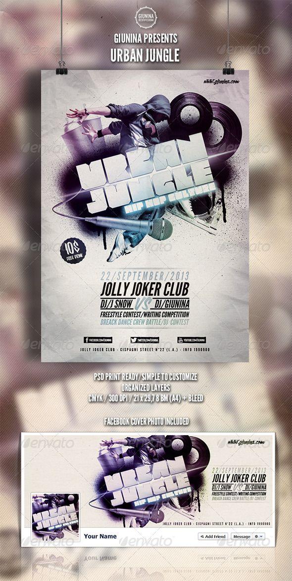 Urban Jungle Flyer/Poster | Poster Template Design | Pinterest