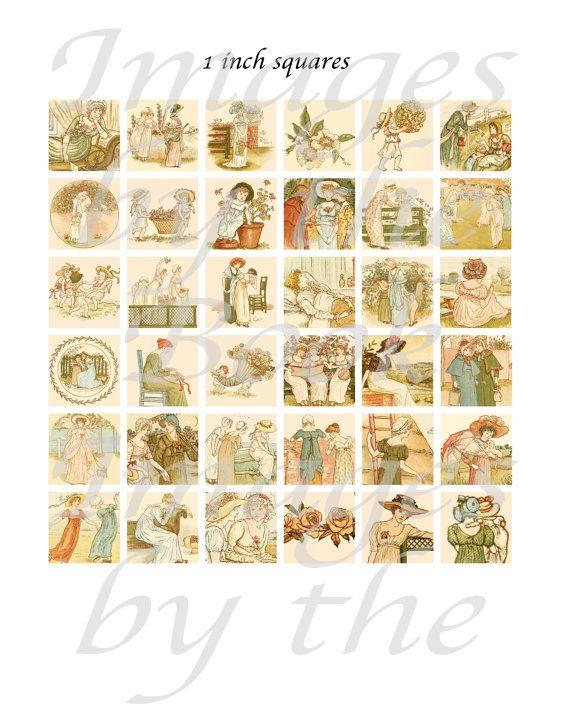 Langue de fleurs imprimables de Kate Greenaway par imagesbythebook