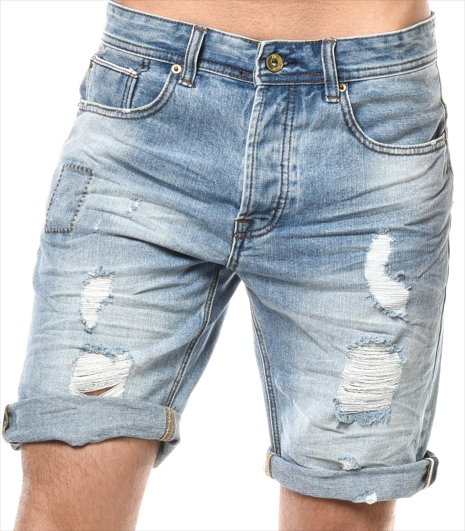 H.landers Short Jeans HL Palmito Mode Homme Rock