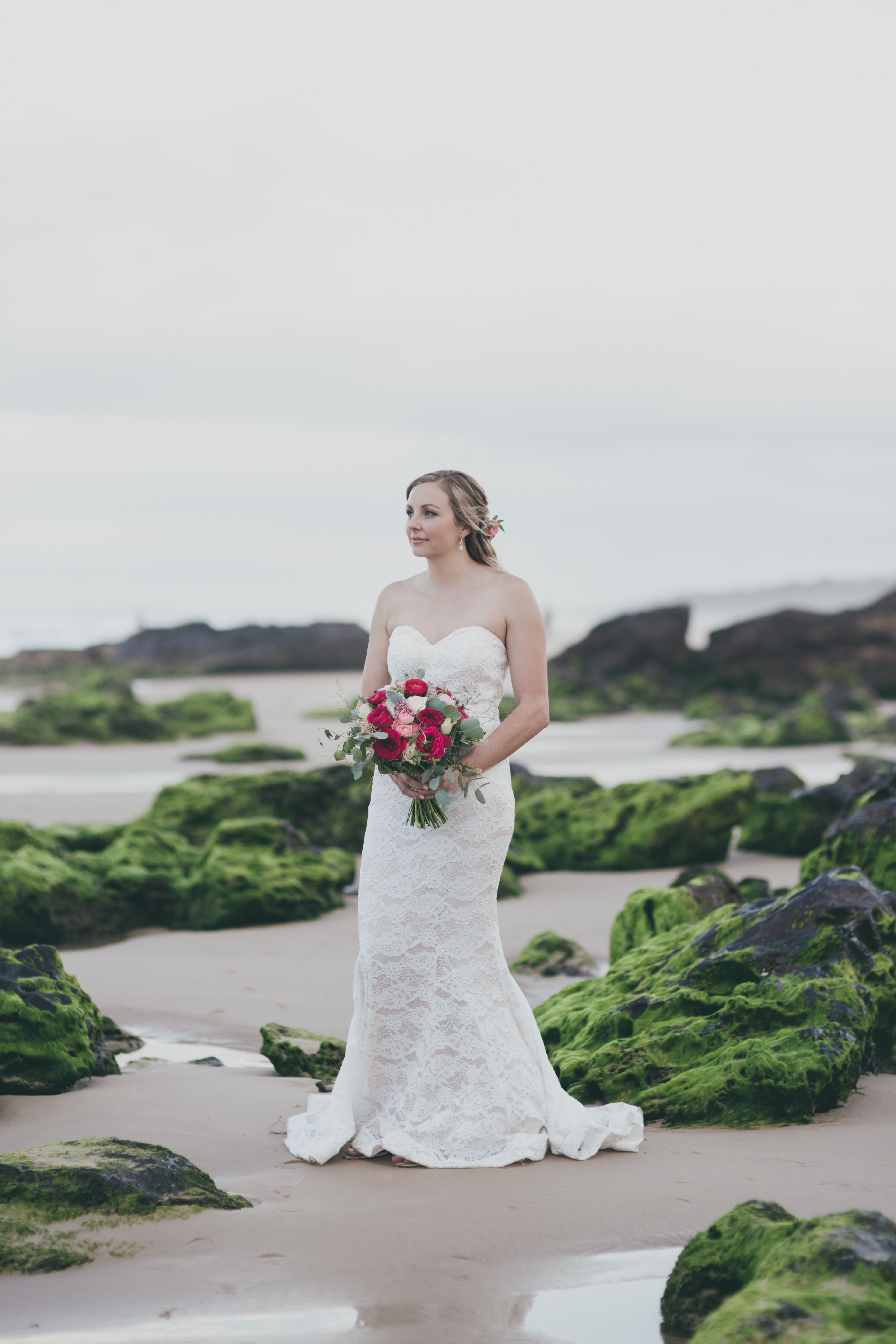 Beach wedding party dresses  Amy and Jamie had a gorgeous beach wedding with the beautiful bride