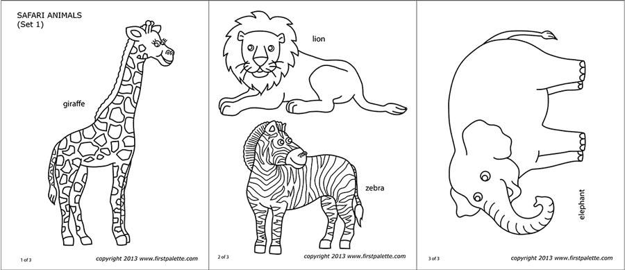 Free Printable Templates Of Wild Animals 4 In 2020 Wild Animals Printable Animals Wild Template Printable