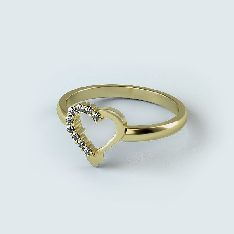 Heart Diamond Rowing Ring