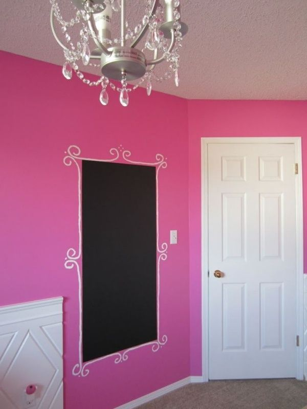 Wandfarbe Pink im Mädchenzimmer-kreative Wandgestaltung mit - wandgestaltung