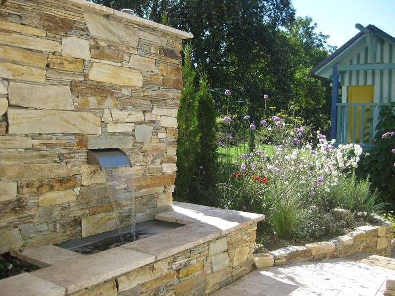 Wasserfallbrunnen Für Den Garten,den Pool  Den Teich. Individuell  Gefertigte Rückwände Und Becken