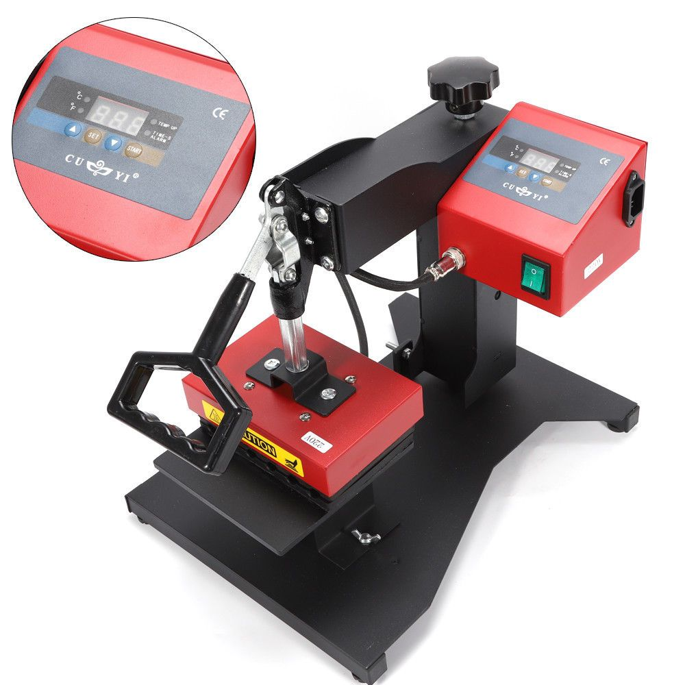 6 Digital Red Logo Pen Heat Press Machine For Ball Point Transfer Printing 350w Heat Press Machine Screen Printing Machine Heat Transfer Vinyl