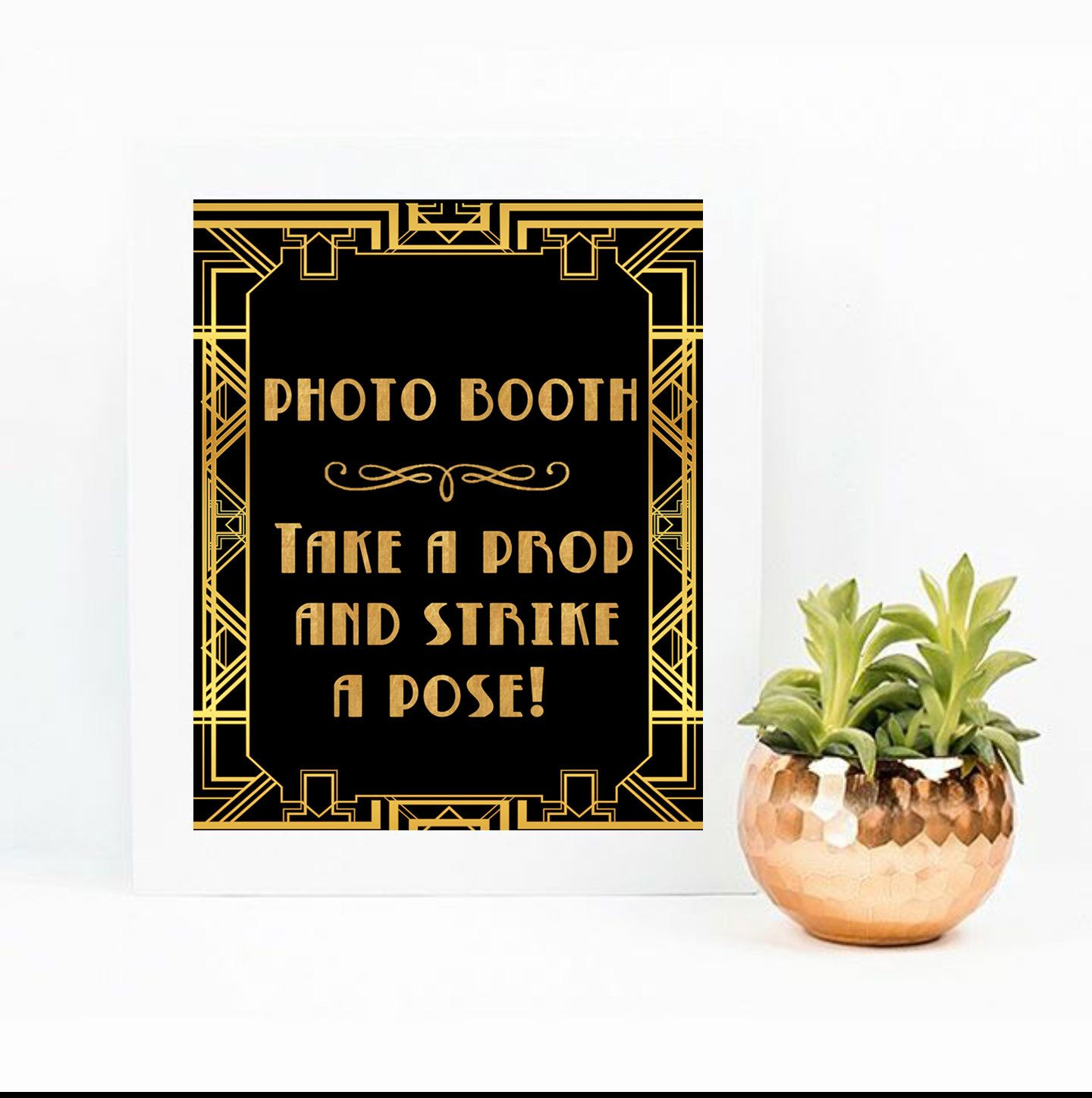 Decor Photobooth Great Gatsby Party Decor Gatsby Birthday Decor Gatsby Photobooth