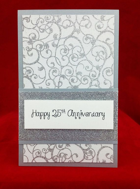Handmade 25th Wedding Anniversary Card With Images Anniversary