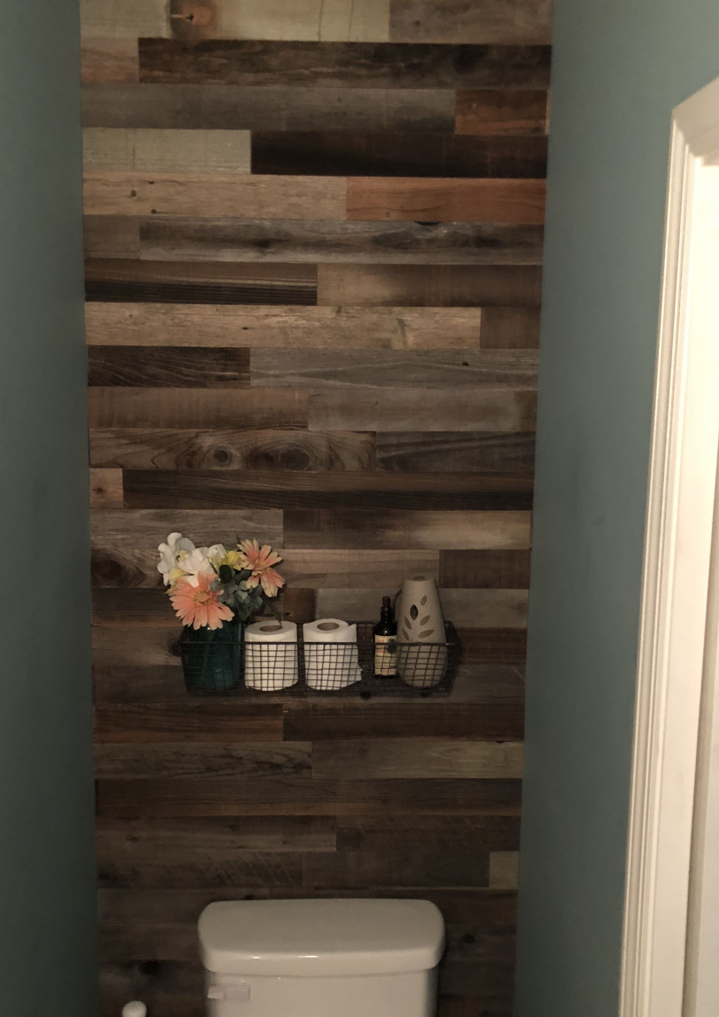 Just Finished My Bathroom Wall From Wooden Sign To Walls Epicartifactorydiyreclaimedbarnwood
