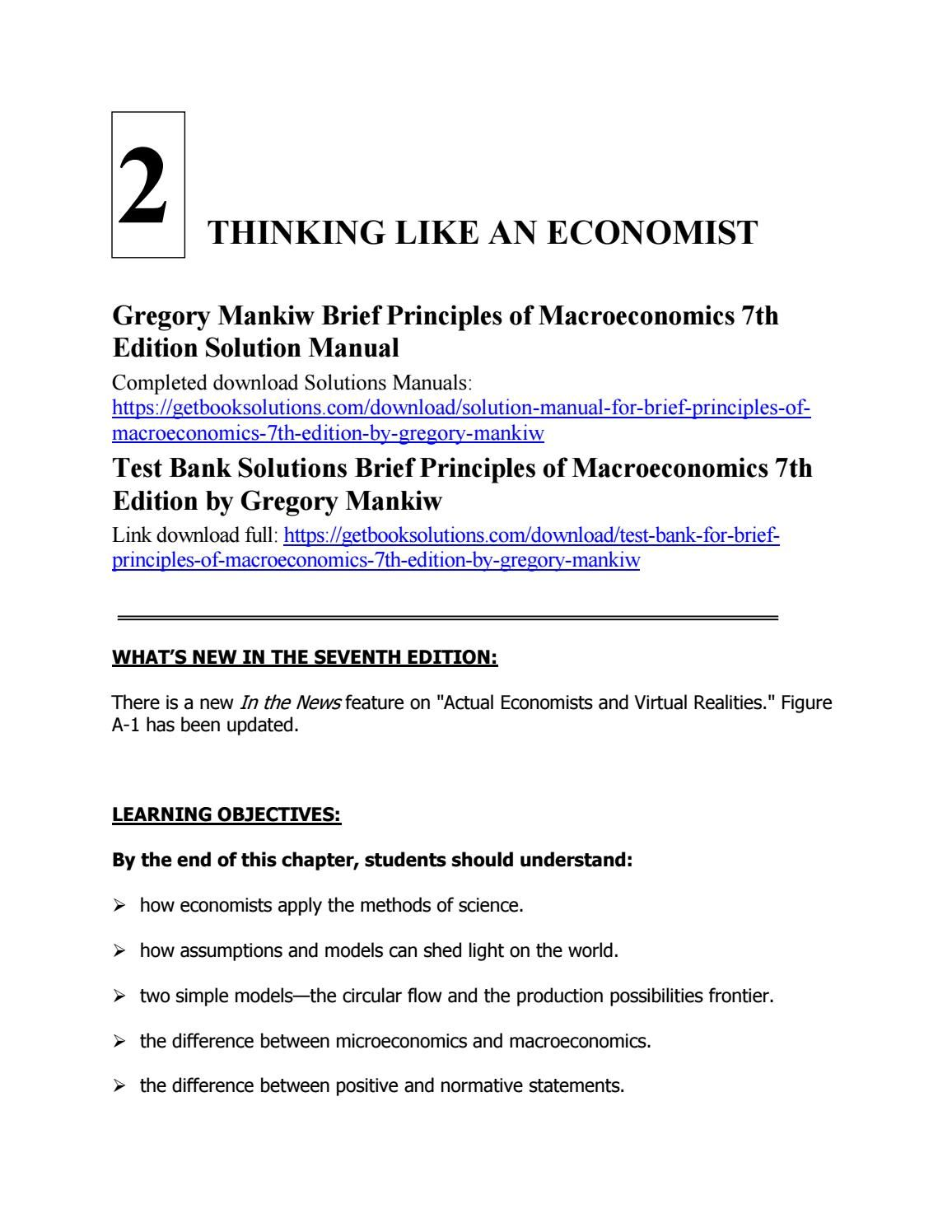 MANKIW MACROECONOMICS 7TH DOWNLOAD