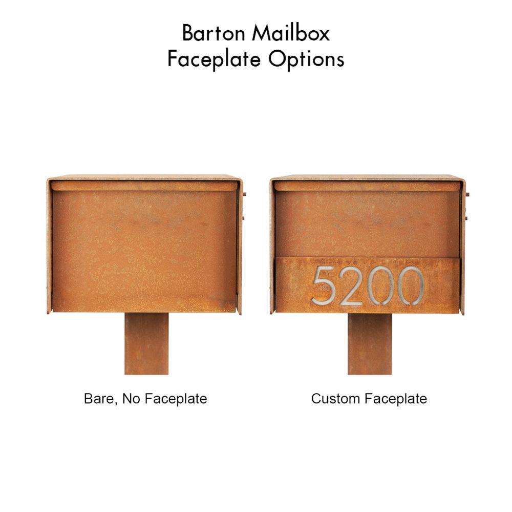The Barton Mailbox Custom Steel Modern Metal Letter Box