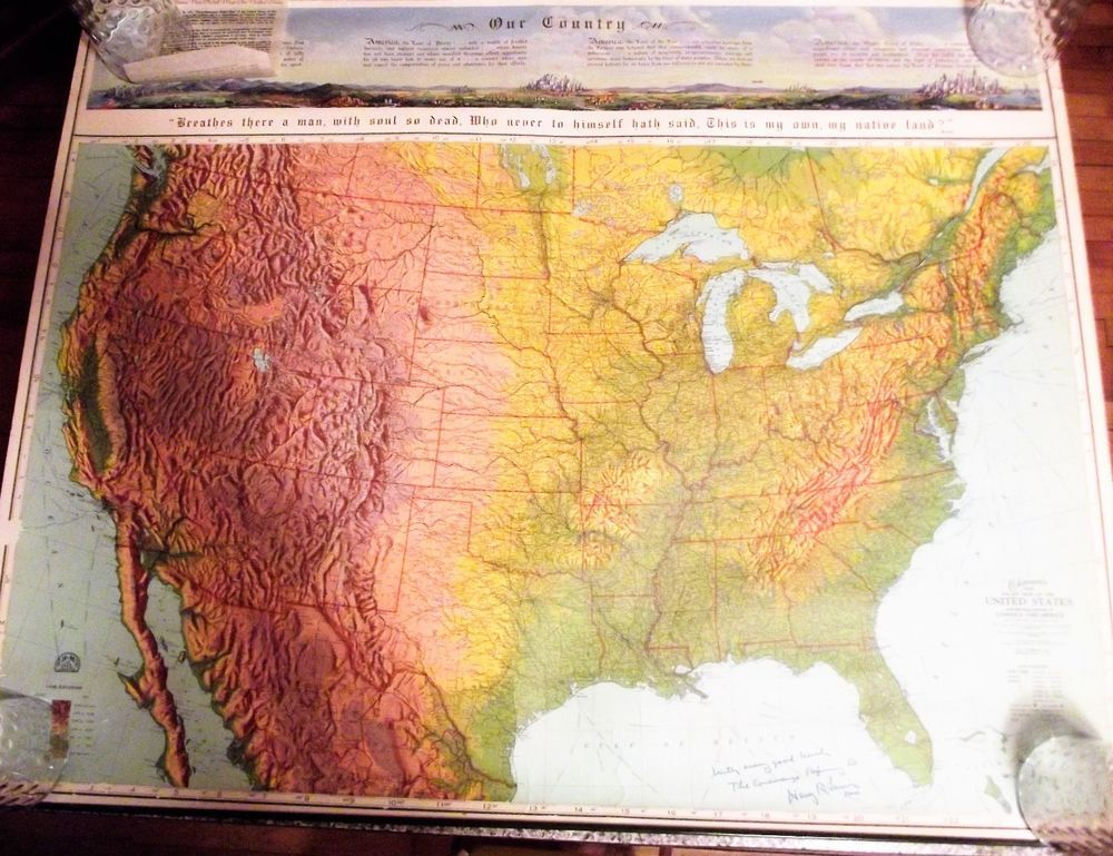 Map Of Us States Bordering Mexico%0A Ohman New Relief Map United States Warren  PA   Conewango Refining Co