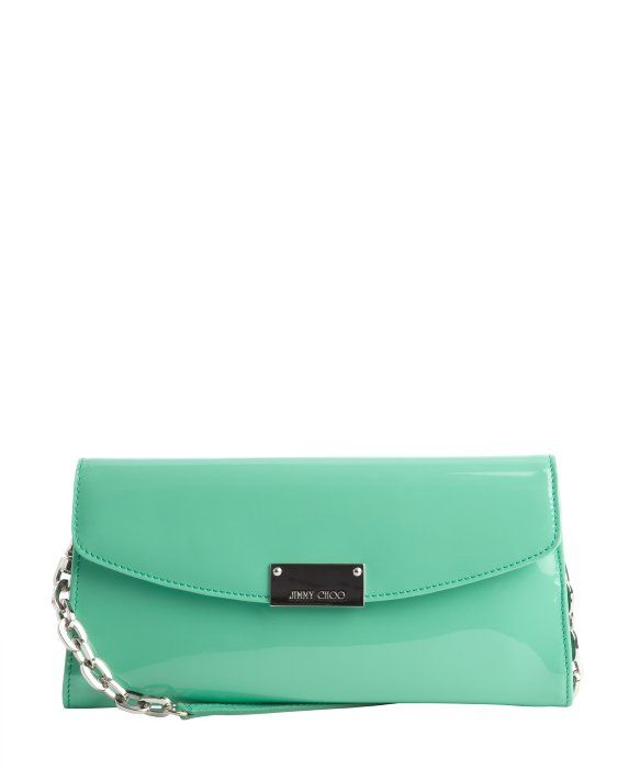 Jimmy Choo peppermint patent leather convertible 'Riane' clutch