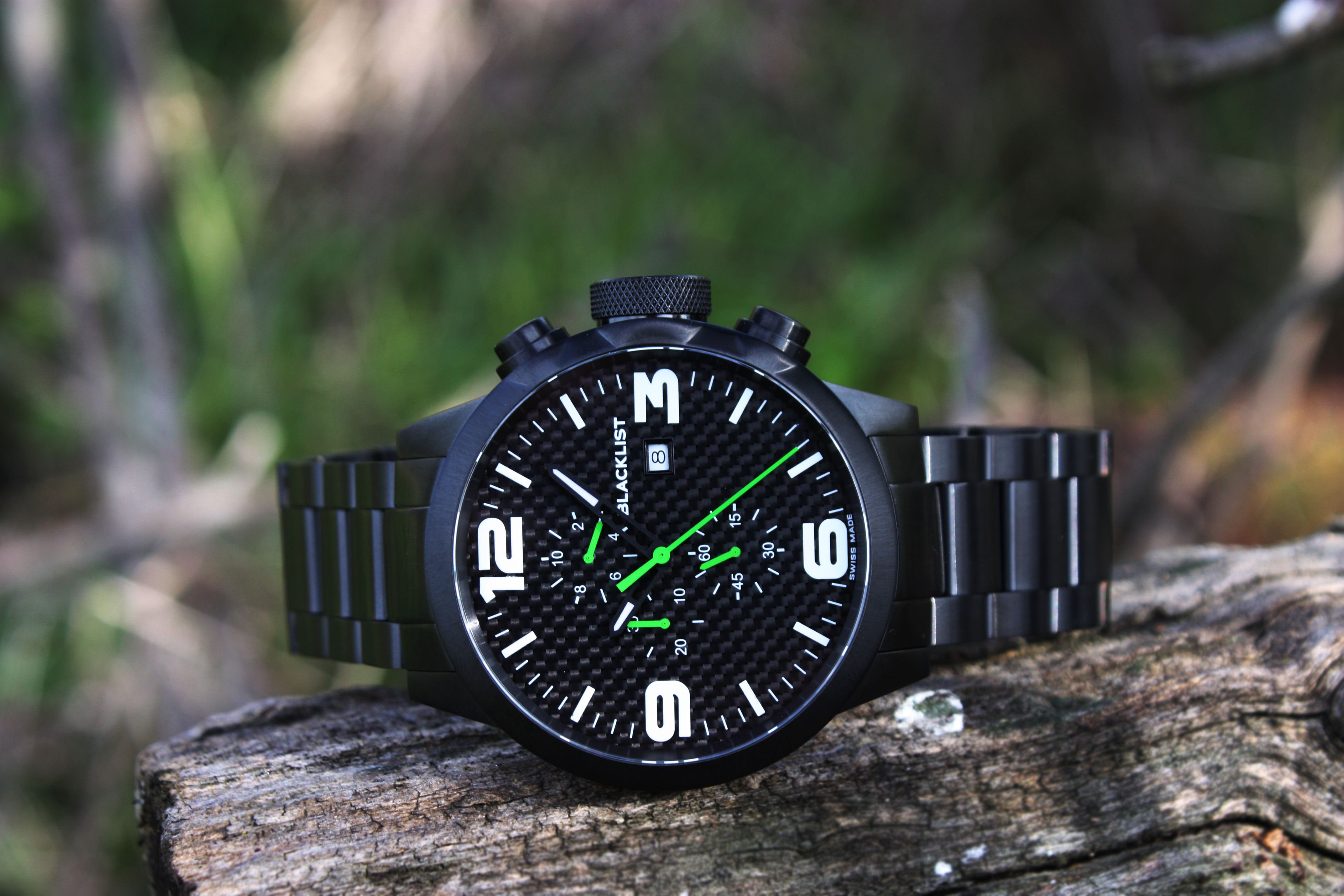 "The Renegade R2, also known as the ""Green Goblin"" is the most rare of our collection. If you can find one, buy it. Only 50 made. One of the coolest Swiss Made carbon fiber watches around!"