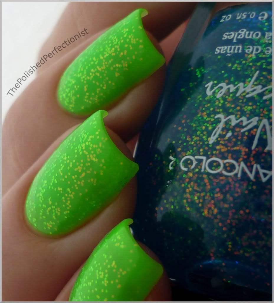 Lime Green Glitter Nail Polish | Best Nail Designs 2018