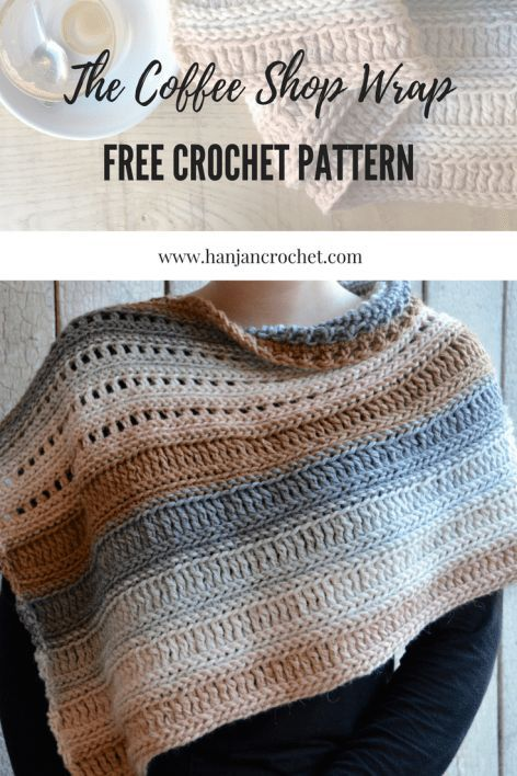The Coffee Shop Wrap – Free Crochet Pattern