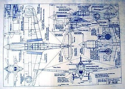 Wonderful 24 x 36 blueprint of the ww ii curtis wright p 40 fighter wonderful 24 x 36 blueprint of the ww ii curtis wright p 40 fighter made the old fashioned way with ammonia activated paper on a diazit malvernweather Image collections